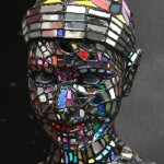 Glass - Damian sculpture - close-up