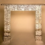 Glass - Mirrror mantlepiece - 1.43m x 1.20m