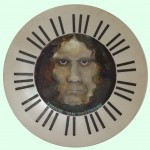Oil and ebony - 'Beethoven'  65cms diameter - Copy